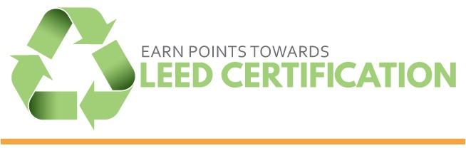 Earn points toward leed certification