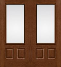 Therma Tru Fiber Classic Mahogany French Doors