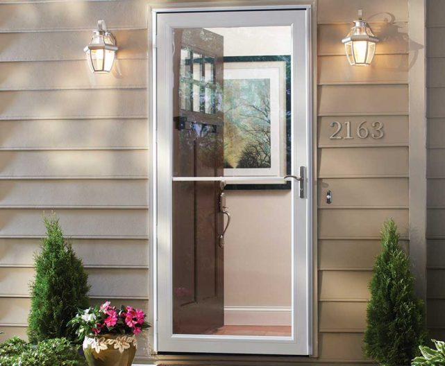 Andersen 3000 series storm door professional for Can you put screen doors on french doors