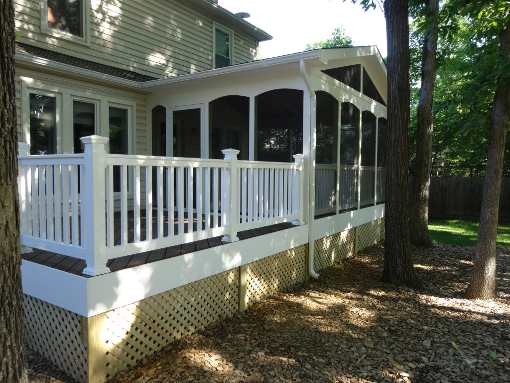 Trex composite decking railing sunshine contracting for Composite decking and railing