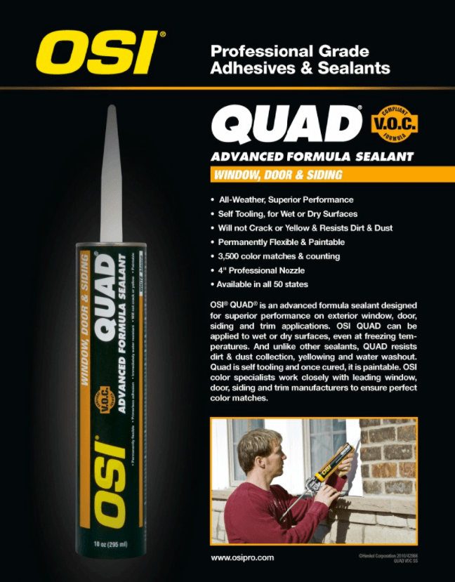 Quad Osi Caulking Trim Nails Sunshine Contracting