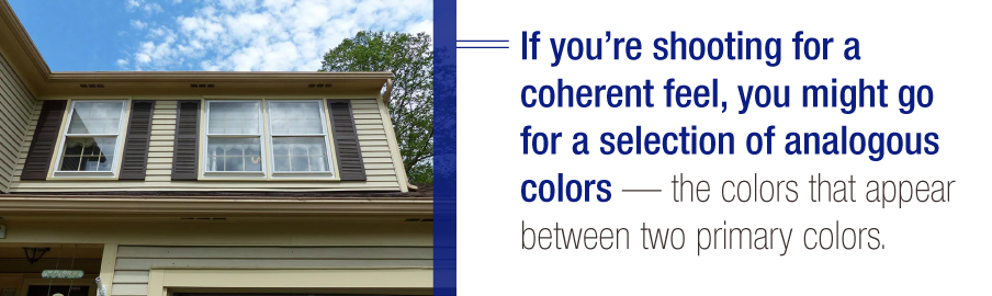 Analagous Siding and Shutter Colors Defined