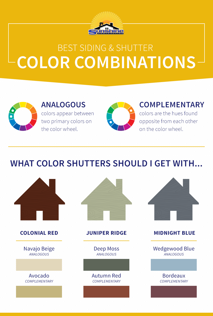 Best Siding and Shutter Color Combinations