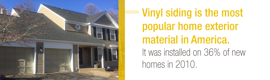 Vinyl siding is the most popular home exterior material in America