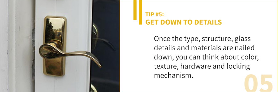 Tip 5 - Get Down to Details