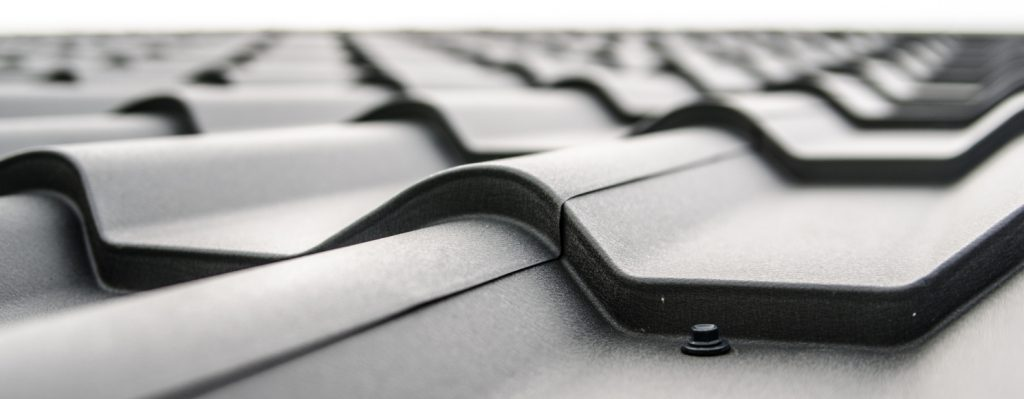 Black and white corrugated roofing architecture