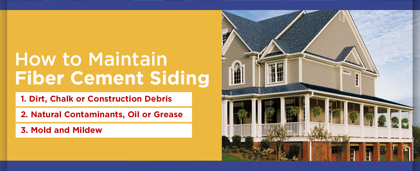 How to Clean and Maintain Fiber Cement Siding | Sunshine