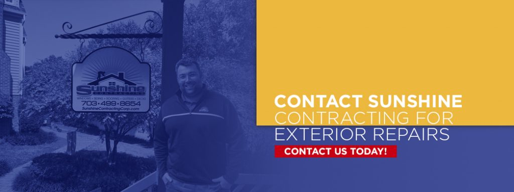 Contact Sunshine Contracting for Exterior Repairs