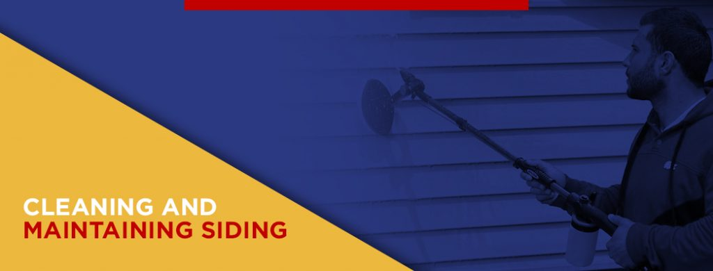 Cleaning and maintaining siding