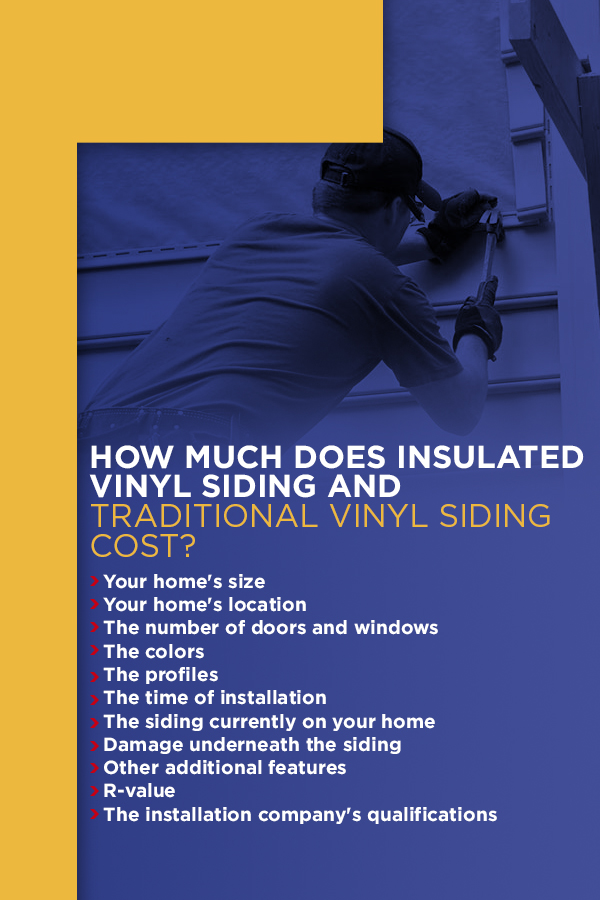 How Much Does Insulated Vinyl Siding And Traditional Siding Cost
