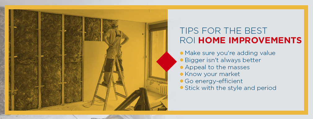 Tips for the Best ROI Home Improvement