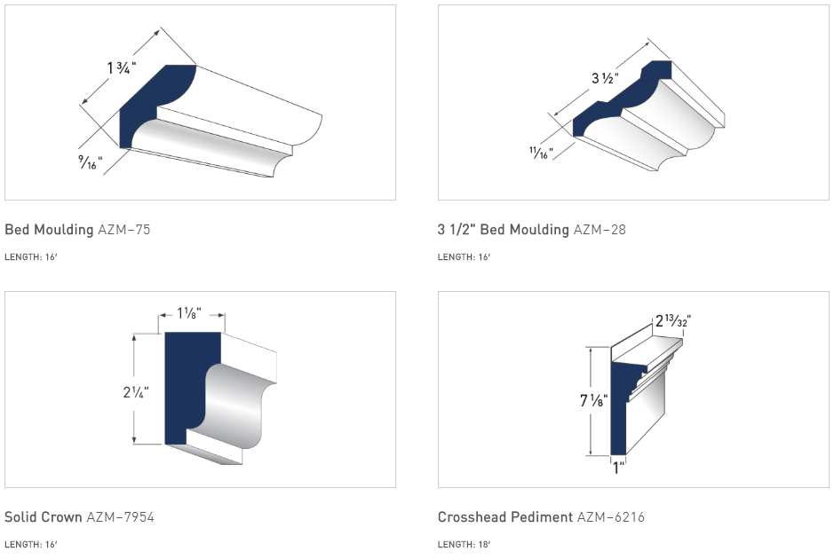 AZEK Crown Moulding Options - 3
