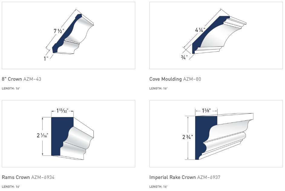 Azek Crown Moulding Options - 2