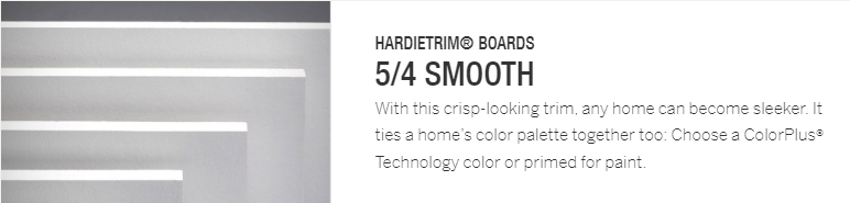 HardieTrim Boards 5-4 Smooth