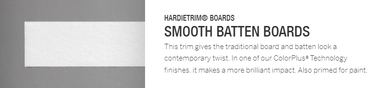 Hardie Trim - Smooth Batten Boards
