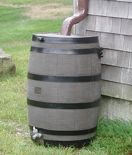 Rain Collection Barrel for Downspouts
